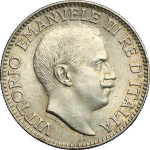 obverse: Vittorio Emanuele III (1900-1943). Rupia 1919
