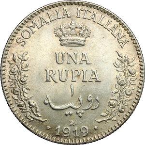 reverse: Vittorio Emanuele III (1900-1943). Rupia 1919
