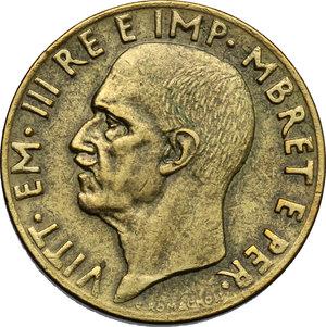 obverse: Vittorio Emanuele III (1900-1943). 0.10 lek