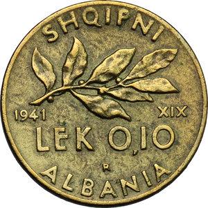 reverse: Vittorio Emanuele III (1900-1943). 0.10 lek