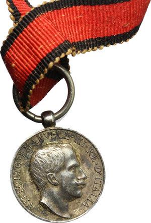 obverse: Vittorio Emanuele III (1900-1940). Medaglietta per il terremoto della Marsica, 13 giugno 1915