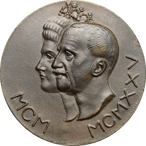 obverse: Vittorio Emanuele III (1900-1943). Medaglia Giubileo reale