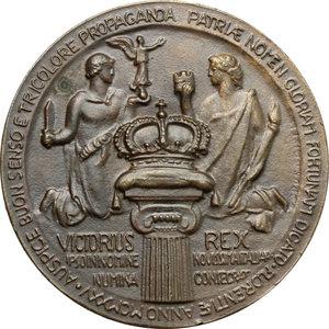 reverse: Vittorio Emanuele III (1900-1943). Medaglia Giubileo reale