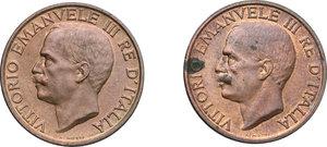 obverse: Vittorio Emanuele III (1900-1943). Lotto di due monete da 10 centesimi del 1926 (NC) e 1928 (R)