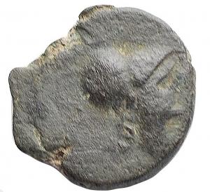 obverse: Mondo Greco -Apulia, Arpi.AE 15,5 mm. III° secolo a.C.D/ Testa di Athena con elmo corinzio a destra.R/ APΠANOY. Grappolo d uva.SNG ANS 646.g 2,76.BB/BB++.Etnico al rv leggibile. Bellapatina verde intenso.
