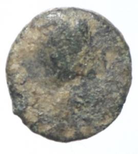 obverse: Bizantini. Giustiniano. 527-565 d.C. Minimale. D\ DN IVSTINIANVS AVG Testa verso destra. R\ Monogramma. Morello 14f. Peso 0,40 gr. Diametro 9,00 mm. BB. R.