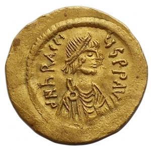 obverse: Bizantini -Eraclio (610-641).Tremisse, Costantinopoli.D/ dN hRACLIUS PP AVI Busto diademato, drappeggiato e corazzato a destra.R/ VICTORIA AG Y S. Croce potenziata. Sotto, CONOB.g 1.45. mm 17,3.AU.qSPL/BB+
