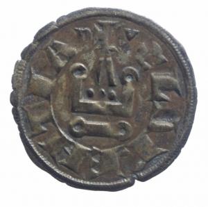 obverse: Oriente Latino. Chiarenza. Guglielmo di Villemardouin. 1245-1278. Denaro tornese. MI. MB/BB.^^