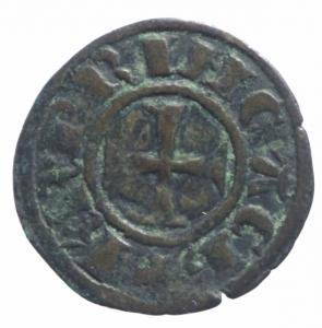 obverse: Oriente Latino. Chiarenza. Carlo I d Angiò (1278-1285). Denaro tornese. Schl. XII, 16. R. MI. BB.^^