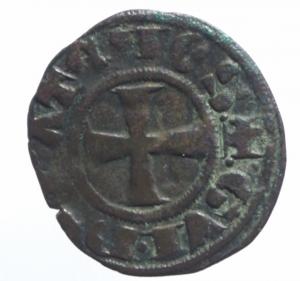 obverse: Oriente Latino. Tebe. Guglielmo I de la Roche (1280-1287). Denaro tornese. Mall. manca (dopo 87a). MI. BB.