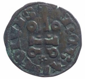 reverse: Oriente Latino. Tebe. Guglielmo I de la Roche (1280-1287). Denaro tornese. Mall. manca (dopo 87a). MI. BB.