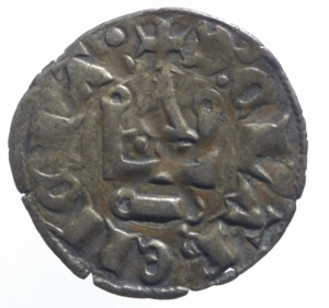 obverse: Oriente Latino. Chiarenza. Florent de Hainaut (1289-1297). Denaro tornese. D/ Castello. R/ Croce. Malloy 13a var. MI. BB.^^