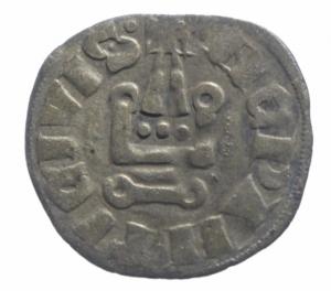 obverse: Oriente Latino. Tebe. Guido II de la Roche (1287-1308). Tornese. CCS 96. MI. gr. 0.97 qBB.^^