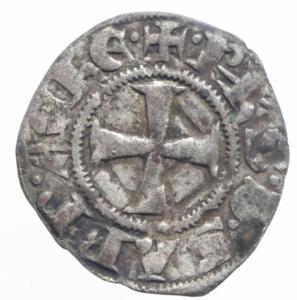 obverse: Oriente Latino. Chiarenza. Filippo di Savoia (1301-1307). Denaro tornese. Malloy 20. MI. BB.^^