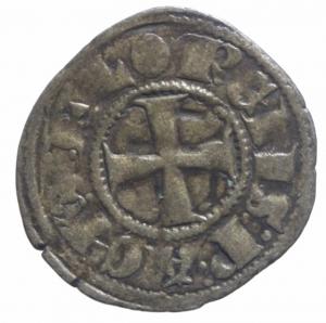 reverse: Oriente Latino. Chiarenza. Filippo di Taranto (1307-1313). Denaro tornese. Peso 0,70 gr.Gamb. 208. MI. BB.^^