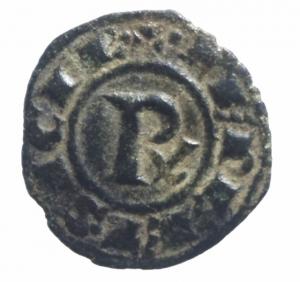 reverse: Zecche Italiane. Brindisi. Corrado I. 1250-1254. Denaro. Mi. D/ Croce patente + CONRADVS. R/ Nel campo Rx in legenda +IERL ET....SP153.Peso 0,70 gr.BB+.^^