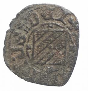 obverse: Zecche Italiane.Catania. Federico IV d'Aragona (1355-1377). Denaro con stemma e elefante.Sp.269 MIR 1. MI. R. BB.^^