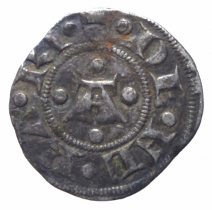 obverse: Zecche Italiane. Ferrara. Nicolò II d Este. 1361-1388. Marchesino. AG. MIR 218. BB+. R.