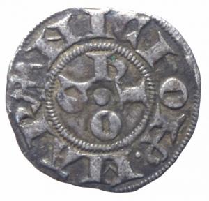 reverse: Zecche Italiane. Ferrara. Nicolò II d Este. 1361-1388. Marchesino. AG. MIR 218. BB+. R.