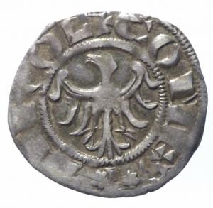 obverse: Zecche Italiane. Merano. Mainardo II. 1271-1295. Grosso tirolino. Ar.Peso 1,50 gr. Biaggi 1186. BB+.