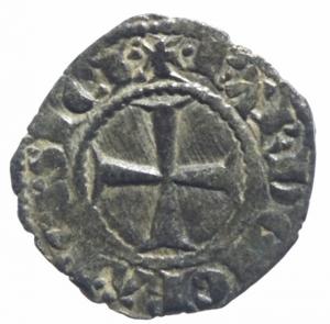 reverse: Messina Carlo I d  Angiò (1266-1285) Denaro. D/ KA. R/ Croce. cfr. Sp.37. MI, 0.85 gr. BB+.^^