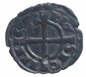 reverse: Messina Carlo I d  Angiò (1266-1285) Denaro. D/ Quattro fiordalisi. R/ Croce. Sp.41. MI, 0.70 gr. BB+-^^