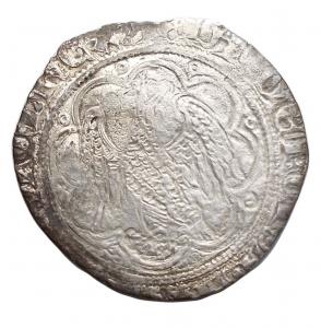 reverse: Zecche Italiane -Messina.Giacomo d Aragona (1285-1327).Pierreale.AG.gr. 1,54.MB+.
