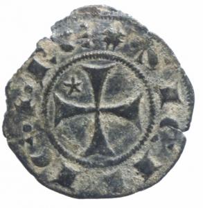 reverse: Zecche Italiane.Messina. Federico III (1296-1337) Denaro. D/ Testa coronata a sinistra. R/ Croce. MI. Biaggi 1312. BB.^^