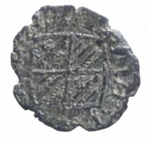 reverse: Zecche Italiane.Messina. Maria e Martino (1396-1402) Denaro. D/ Stemma. R/ Croce, G-P. MI, 0.58gr. MIR 219. BB+.^^