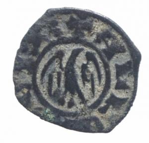 reverse: Zecche Italiane.Messina Alfonso I (1415-1458) Denaro. D/ Aquila coronata. R/ Stemma aragonese. Biaggi 1348. MI, 0.60 gr. BB.Buon esemplare per il tipo.^^
