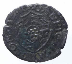 reverse: Zecche Italiane. Mirandola. Galeotto II Pico. 1533-1550. Quattrino. MI. MIR 498. Peso gr. 0,99. qSPL. R.