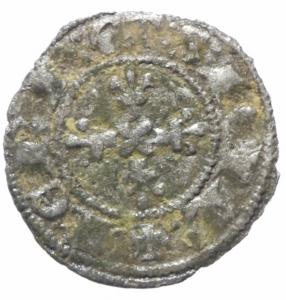 reverse: Zecche Italiane. Napoli. Carlo II d Angiò (1285-1289). Denaro regale. P.R. 4. MI. BB+.