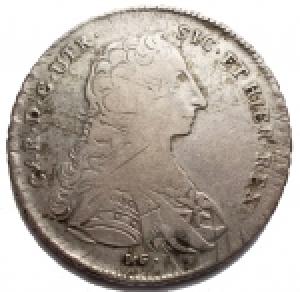 obverse: Zecche Italiane - Napoli.Carlo di Borbone (1734-1759).120 grana o piastra 1753.MIR 337/3. MB-BB