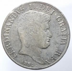 obverse: Zecche Italiane. Napoli. Ferdinando II di Borbone. 1830-1859. Piastra 120 Grana 1834. AR. P/R 58. MIR 499/4. BB.