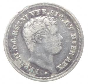obverse: Zecche italiane. Napoli. Ferdinando II. 1830-1859. 5 Grana 1847. AG. MIR 516/5. Peso gr. 1,12. BB. RR.