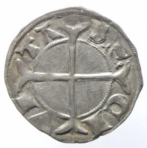 obverse: Zecche Italiane. Padova. Ulrico di Valsee. 1320-1321. Grosso aquilino. Ag. CNI tav. XIX, 4. B. 1726. Peso gr. 1.59. Diametro mm. 21.00. SPL.