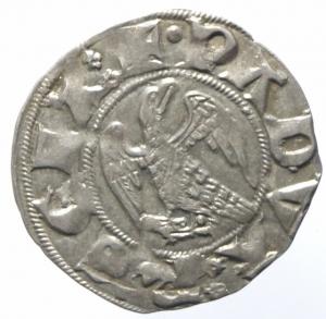 reverse: Zecche Italiane. Padova. Ulrico di Valsee. 1320-1321. Grosso aquilino. Ag. CNI tav. XIX, 4. B. 1726. Peso gr. 1.59. Diametro mm. 21.00. SPL.