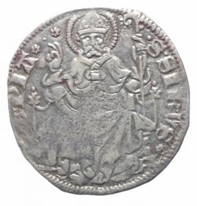 obverse: Zecche Italiane. Pavia. Galeazzo II Visconti. 1359-1378. Grosso da un soldo e mezzo. Ag. Cast.1. BB. R.