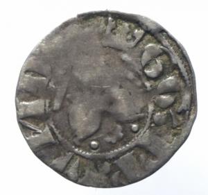 obverse: Zecche Italiane. Roma. Gregorio XI. 1370-1378. Bolognino. MI. M. 11. Peso gr. 1.27. qBB. R.