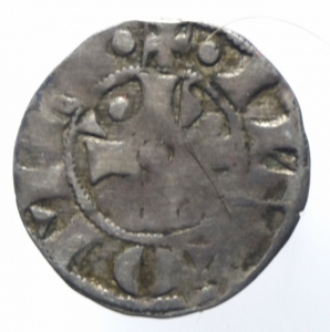 reverse: Zecche Italiane. Roma. Gregorio XI. 1370-1378. Bolognino. MI. M. 11. Peso gr. 1.27. qBB. R.