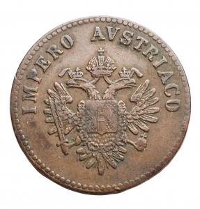 reverse: Zecche Italiane - Venezia. Francesco Giuseppe (1849-1866). 5 centesimi 1852. AE. BB+