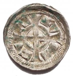 obverse: Zecche Italiane -Verona.Federico II (1218-1250).Denaro. gr 0,39. mm 13,67.B.2969.NC.MI.Migliore di SPL. Fondi lucenti
