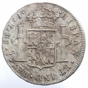 reverse: Estere.Cile .Santiago. Carlo IV (1788-1808), 8 Reales 1807; AR BB+.^^
