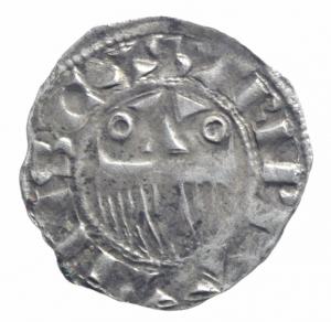reverse: Estere. Francia. Provenza. Enrico II Conte 1180-97. Denaro Provisino. Mi. . BB.^^