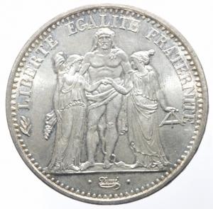 obverse: Estere. Francia. 1965. 10 Franchi. AG. Peso 25,10 gr. SPL. R.