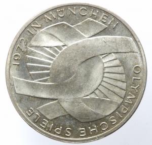 reverse: Monete Estere. Germania. Rep. Federale. 10 marchi 1972 G. AR. KM.135. qFDC.§