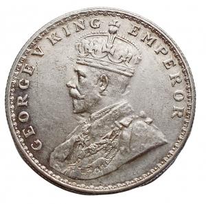 obverse: Estere - Inghilterra. India. Impero britannico. Giorgio V (1910-1936). Rupia 1919 AG. KM 524. Migliore di SPL. Fondi lucenti