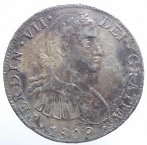 obverse: Estere. Messico. Carlo III. 8 reales 1788. KM 106.1. R. AG. Sigle M.F. BB.^^