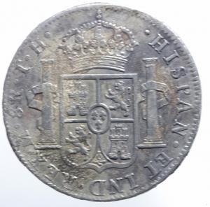 reverse: Estere. Messico. Carlo III. 8 reales 1788. KM 106.1. R. AG. Sigle M.F. BB.^^