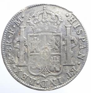 reverse: Estere. Messico. Ferdinando VII (1808-1821). 8 reales 1809. AG. BB/BB+.^^